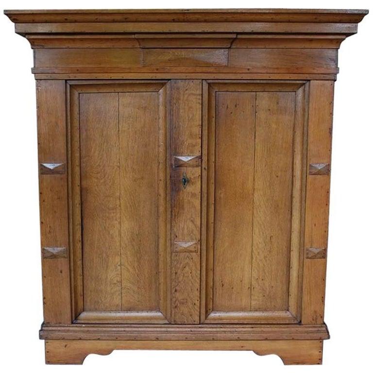 19th Century Oakwood Cabinet For Sale