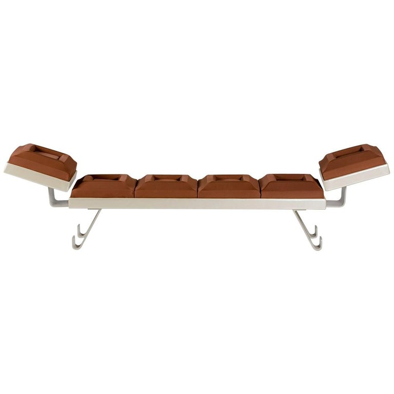 "Bench ""Cioccosofa'"" Handcrafted Polyurethane Differentiated Lift"
