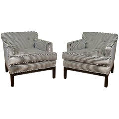 Pair of Lounge Chairs Attributed Michael Taylor for Baker, circa 1950s