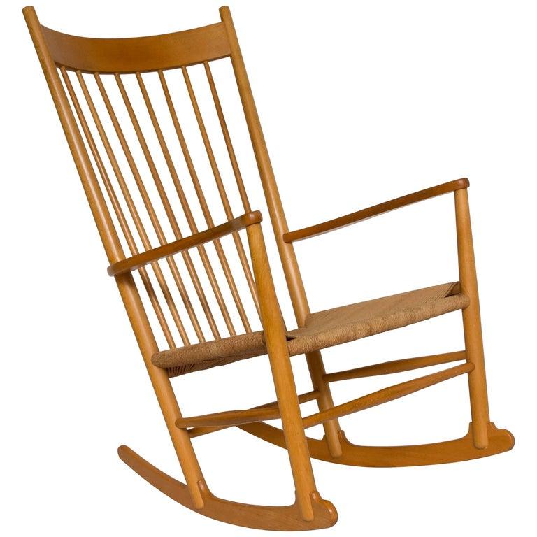 Hans Wegner J16 Beech Rocking Chair