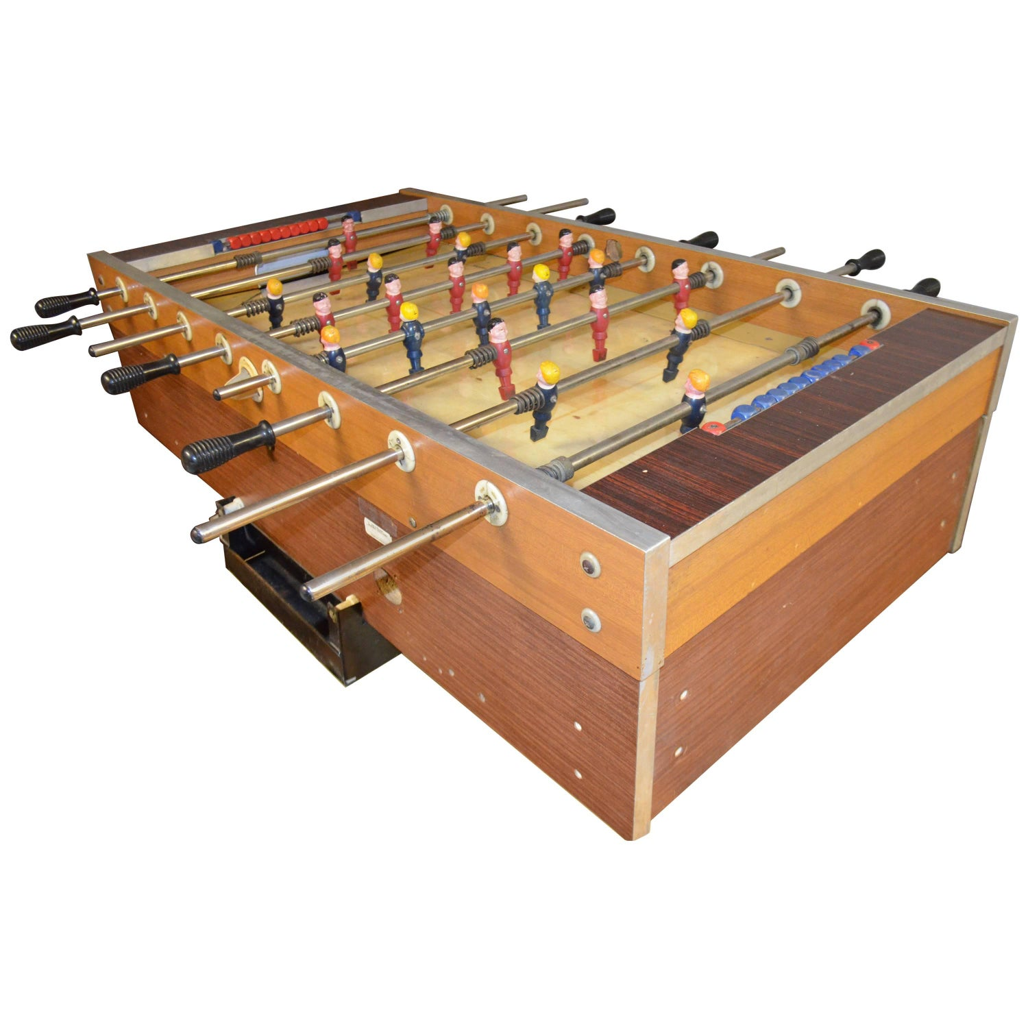 90° Minuto Foosball Table by Teckell in Walnut For Sale at 1stdibs