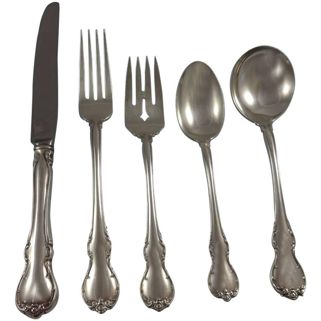 French Provincial by Towle Sterling Silver Flatware Set 8 Service 52 Pieces