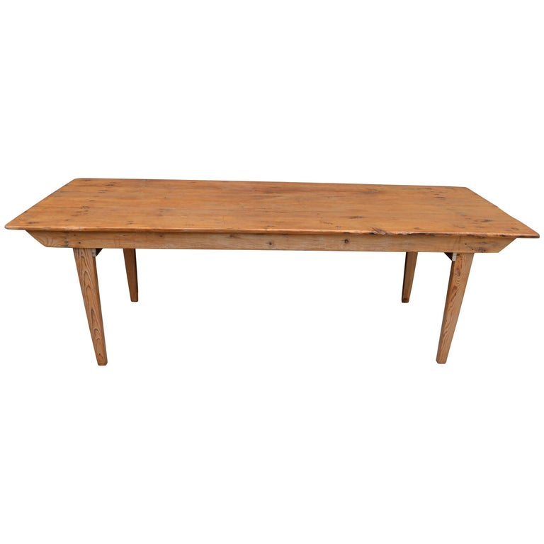 Early 1900s Ponderosa Pine Farm Dining Room Table with  : 8373953master from www.1stdibs.com size 768 x 768 jpeg 23kB