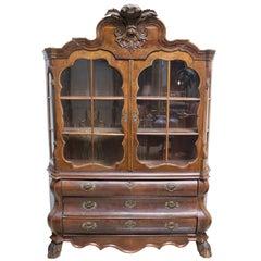 Dutch Rococo Burled Walnut Cabinet