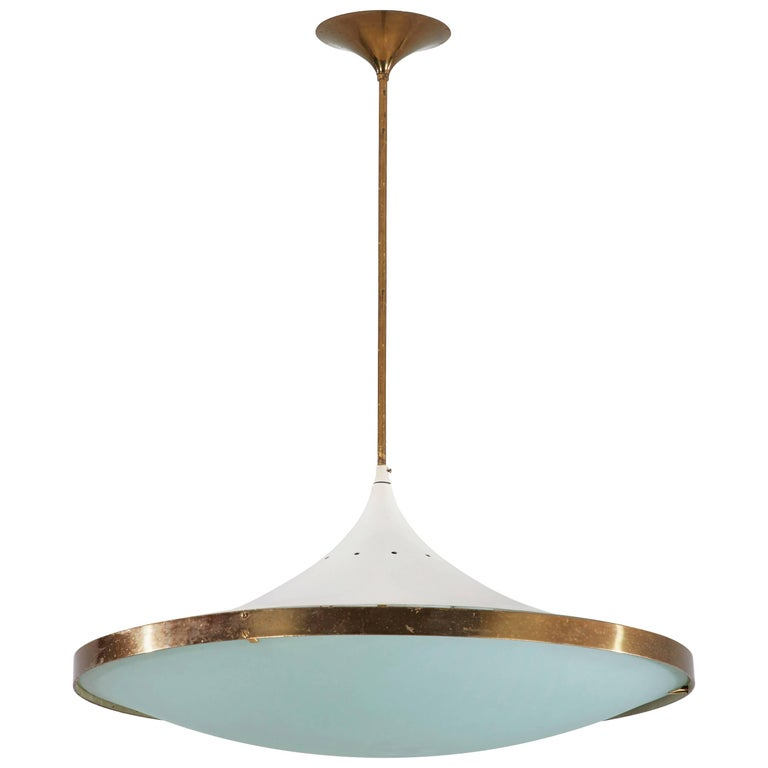 Model 2064 Chandelier by Max Ingrand for Fontana Arte For Sale