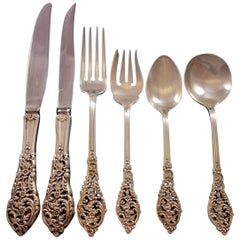 Florentine Lace by Reed & Barton Sterling Silver Flatware Service Set 72 Pieces