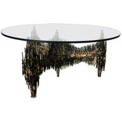 Fabulous Signed Edward Garfinkle Brutalist Cocktail Table
