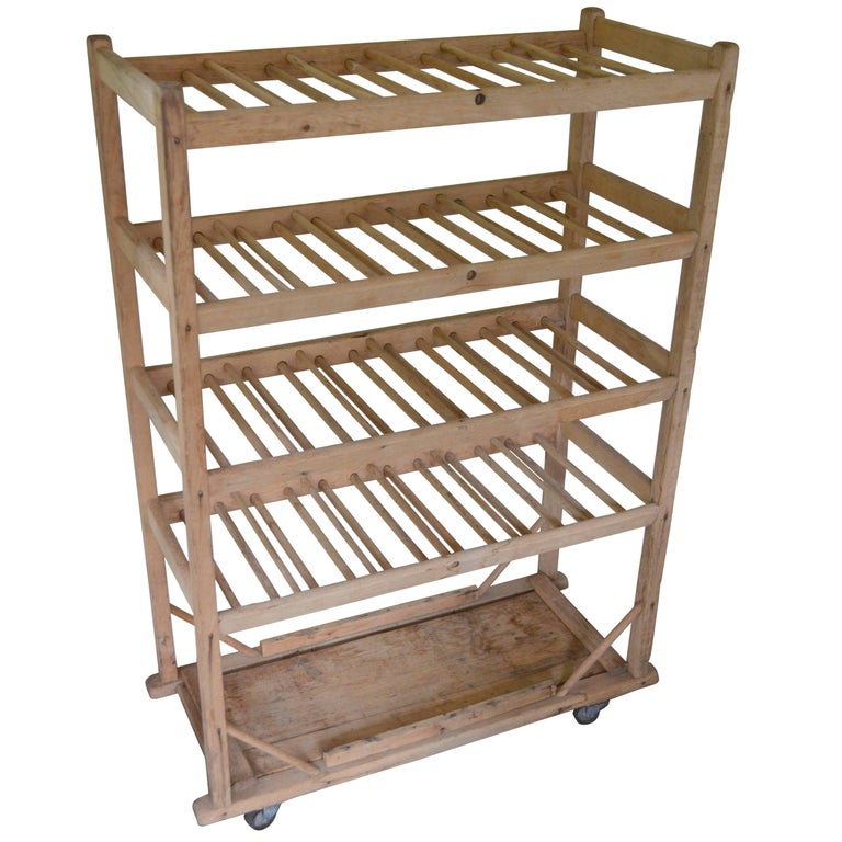 Baker S Rack Bread Cart Of Wood On Wheels For Bath Or
