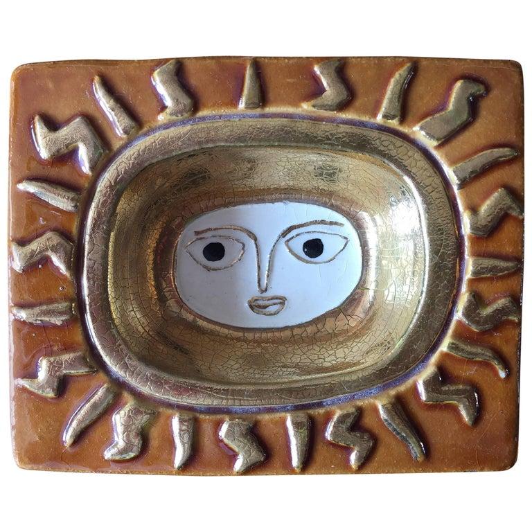 Francois Lembo Ceramic Vide Poche Vallauris Picasso Style, circa 1960