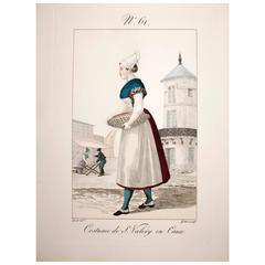 Engraving #61 Costume De St. Valery En Caux