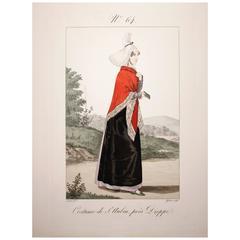 Engraving #64 Costume De St. Aubin, Pres Dieppe