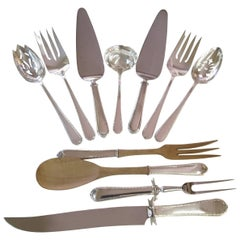 11 Serving Pieces of Pine Tree International Sterling Silver Flatware
