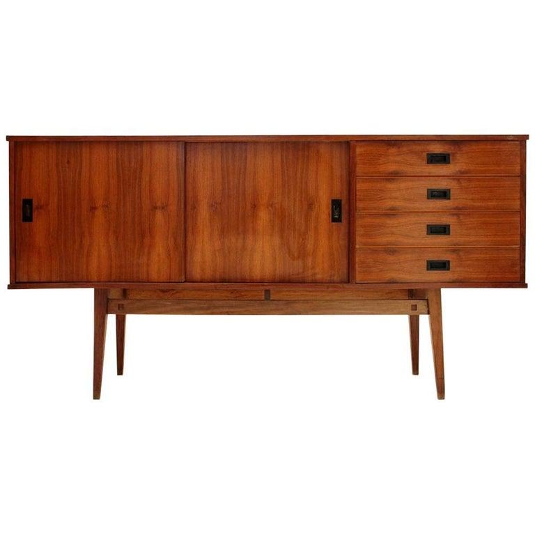 sideboard with black metal handles for sale at 1stdibs. Black Bedroom Furniture Sets. Home Design Ideas