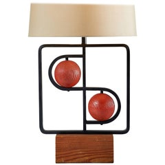 """Double D"" Table Lamp by Harry Lawenda for Mutual Sunset Lamp Co."