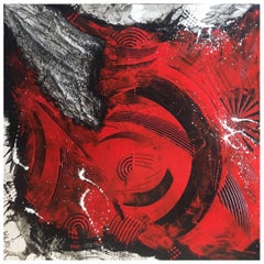 "Painting Acrylic on Canvas by French Artist Serge Lefox, ""Abundance"""