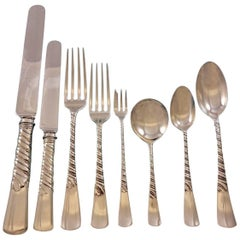 Colonial by Gorham Sterling Silver Flatware Set for 12 Service 107 Pieces Dinner