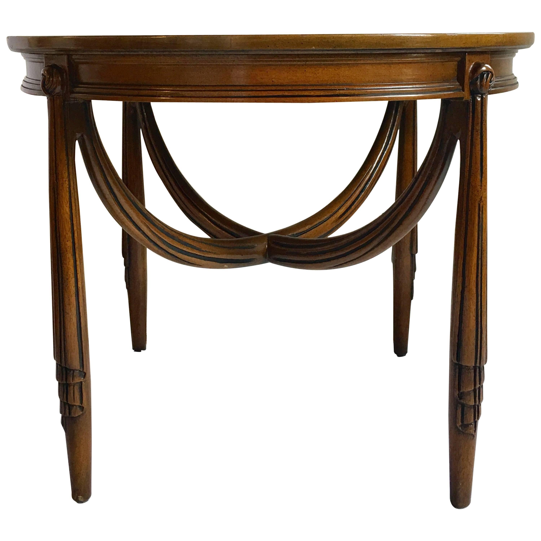 Captivating Hollywood Regency Style Draped Side Table