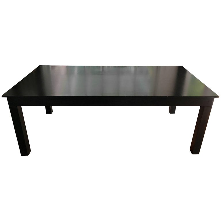 Black Lacquered Rectangular Dining Table By Roy McMakin