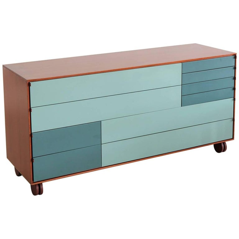 Rolling Ten-Drawer Dresser by B&B Italia For Sale