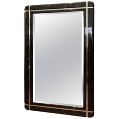 Marble and Brass Mid-Century Mirror