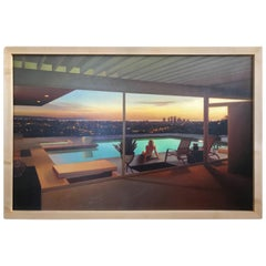 Modern Architecture Painting Stahl House Los Angeles by Carrie Graber Signed
