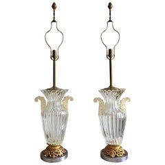 Pair of Large Archimede Seguso Table Lamps