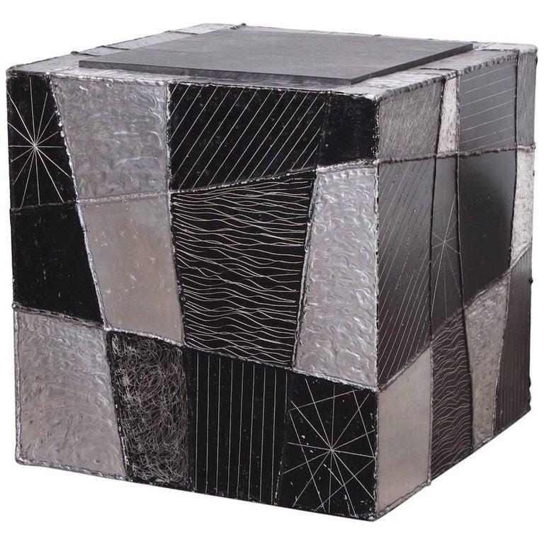 """Paul Evans """"Argente"""" Cube Side Table"""