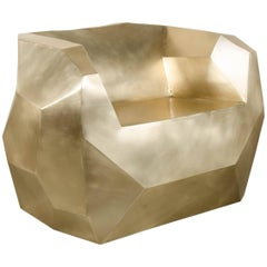 Facet Seat - Brass by Robert Kuo, Limited Edition