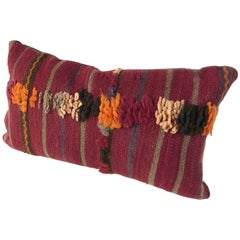 Custom Moroccan Pillow Cut from a Hand-Loomed Wool Berber Rug
