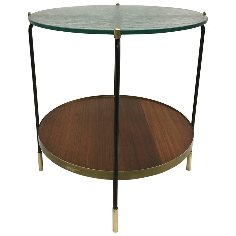 Italian Mid-Century Double Tier Bar/ Side/ Coffee Table in Style of Fontana Arte