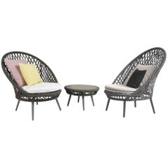 Honey Armchair by Atmosphera Creative Lab, Contemporary Outdoor Rope Armchair