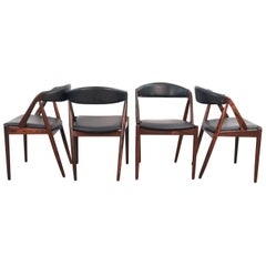 Set of Four Danish Mid-Century Kai Kristiansen Model 31 Dining Chairs