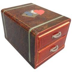 Japanese Lacquered Playing Card Box, circa 1940