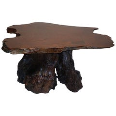 Mid-Century Modern Root Wood Coffee Table