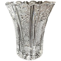 Bohemin Cut Crystal Flower Vase