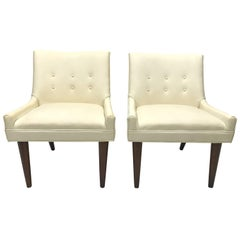 Pair of Slipper Chairs in the Manner of Milo Baughman for Thayer Coggin