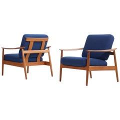 Rare Arne Vodder 1960s Teak Easy Chairs Mod. 164 Danish Modern Design