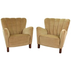 Fritz Hansen Model 1669 Rare Pair of Armchairs