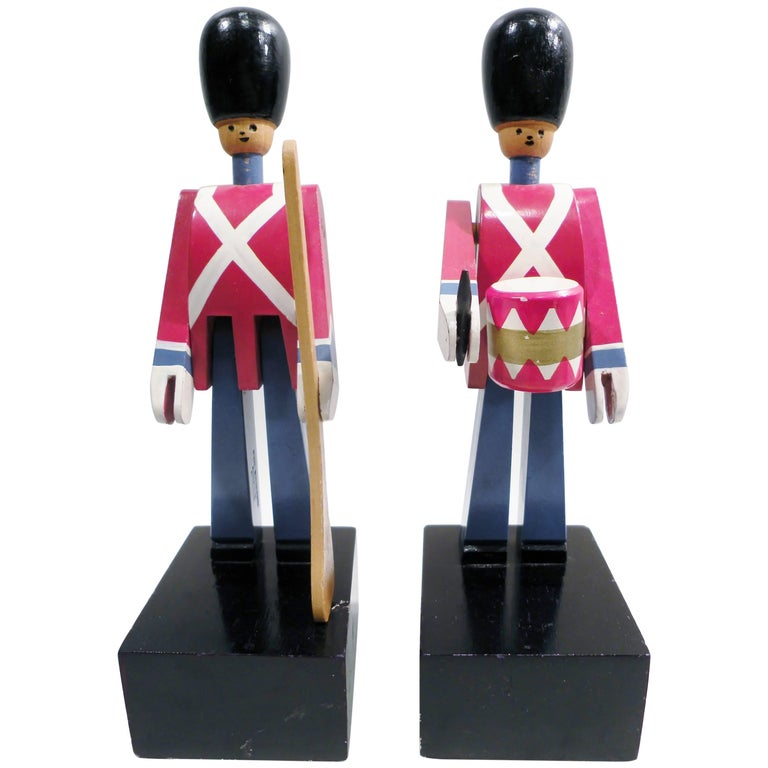 1960s Kay Bojesen Pair of Soldier Royal Guardsman Bookends Mid-Century