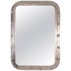 Nautical Aluminum Ship's Window Mirror