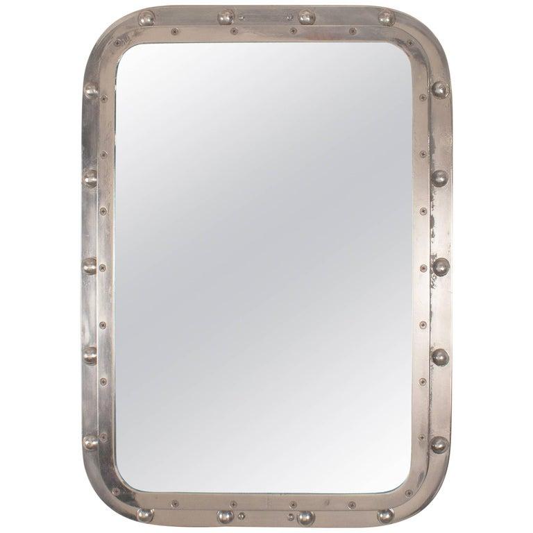 Nautical Aluminum Ship's Window Mirror