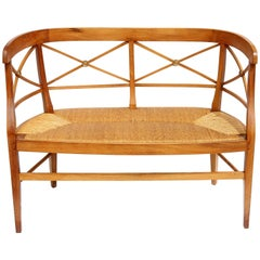 Neoclassical Settee Bench