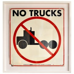 "Vintage ""No Trucks"" Sign"