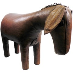 Dimitri Omersa Leather Donkey Ottoman Footstool Abercrombie & Fitch
