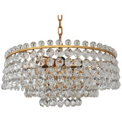 Stunning Cut Crystal Chandelier by Bakalowits