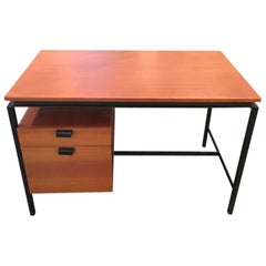 Pierre Paulin Steel and Oak Desk, Mfg. Thonet