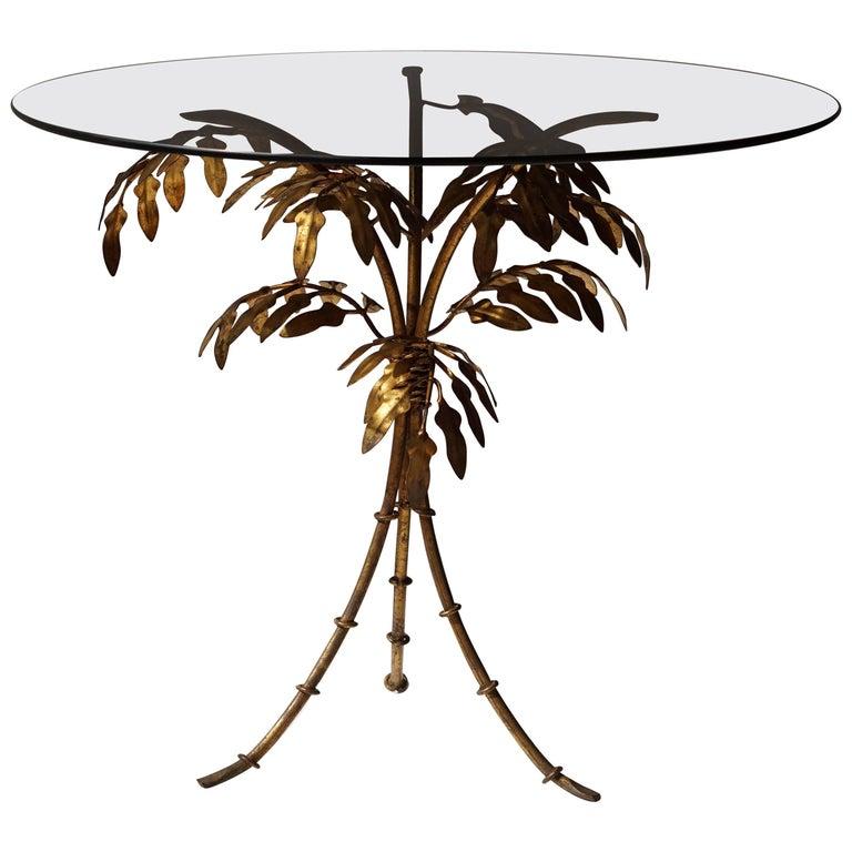 Italian Gilt Tole Side Table