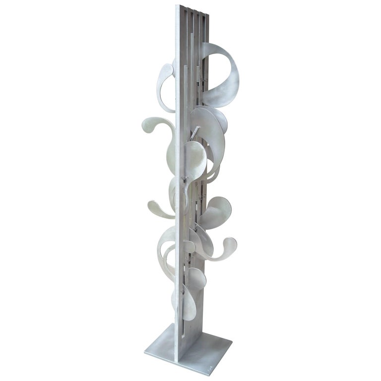 Jerome Kirk, Monumental Kinetic Metal Abstract, Sculpture, Signed, Titeled  For Sale