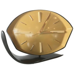 Geometric Modern Age Bakelite Table Clock, circa 1940