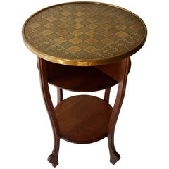 Chess Table in Wood and Copper Top